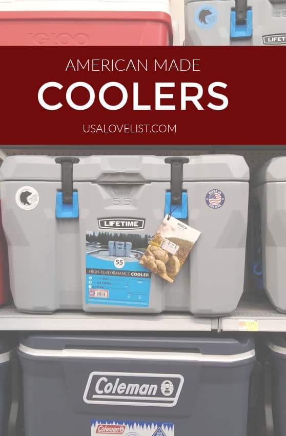 American Made Coolers via USA Love List #coolers #outdoors #beach