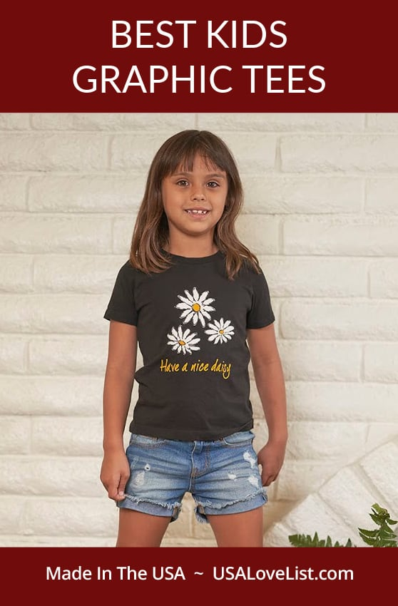 Best kids graphic tees via USA Love List featuring Brain the Pekingese new line of t-shirts for kids