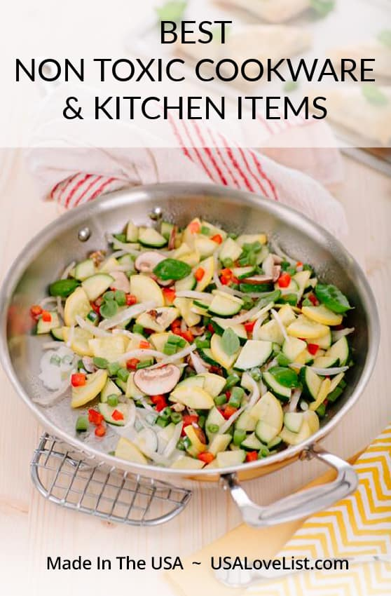 Best non toxic cookware and kitchen items featuring 360 Cookware via USA Love List #usalovelisted #Americanmade #kitchenware