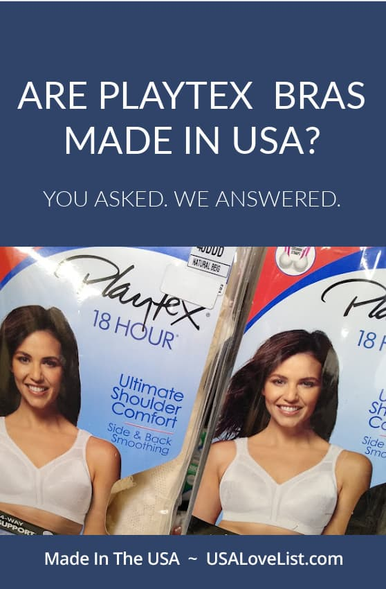 Are Playtex bras made in USA? You asked. We answered. #bras