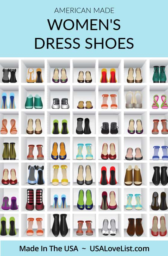 Women's dress shoes made in USA including women's flats, pumps, and more. #footwear #shoes #fashion #usalovelisted #madeinUSA
