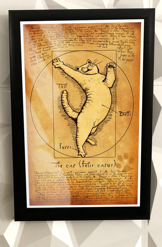 Gifts for the Pet Lover and Pets: One of a kind posters from Skinny Pete's Catnip. Take 10% off all items at checkout with code USALOVE. One-time use, no expiration date.