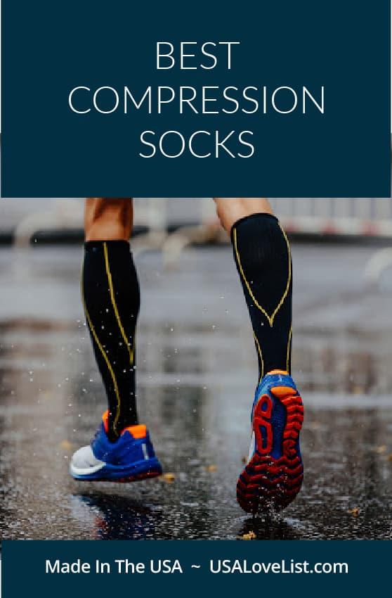 Best Compression Socks made in USA via USAlovelist.com