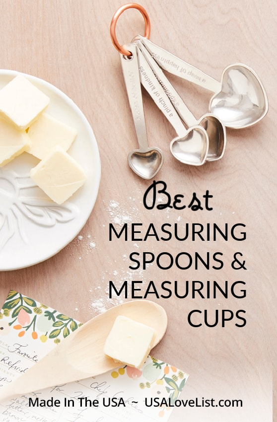 Best measuring spoons & measuring cups, all American made via USA Love List