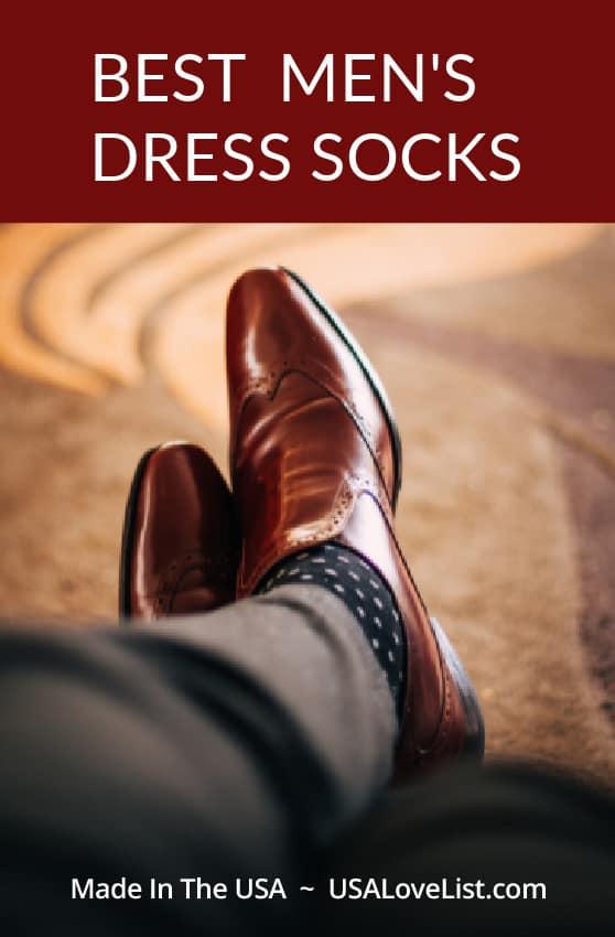Best Men's Dress Socks American Made via USALoveList.com #socks #usalovelisted #MadeinUSA