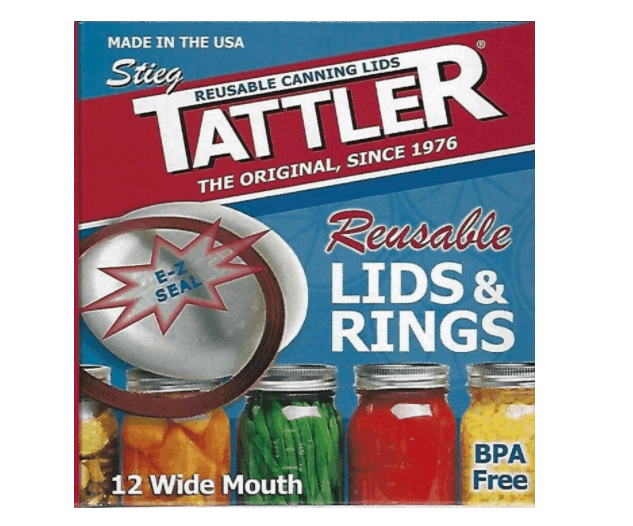 Canning lids made in the USA: Tattler reusable canning lids #canning #usalovelisted #AmericanMade