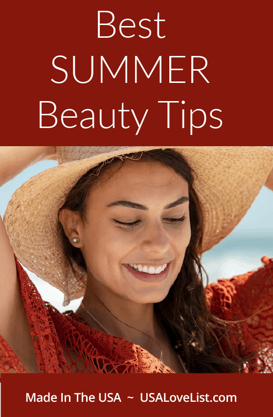 Best summer beauty tips featuring American made products via USA Love List #summer #beauty