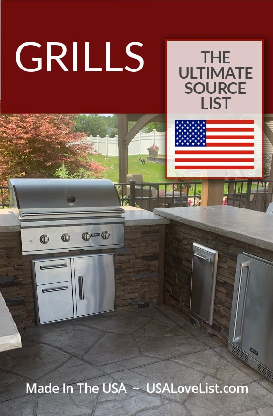 American made grills: gas grills, smokers, pellet grills and more via USA Love List