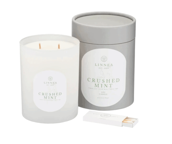 Best Hostess gifts: Linnea scented candles.
