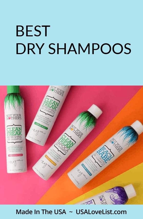Best Dry Shampoos all made in the USA via USALoveList.com