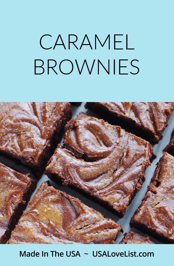 Caramel Brownies Recipe: KitchenAid baking via USALoveList.com