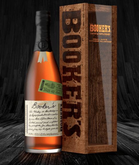 Booker's small batch bourbon by Jim Beam.